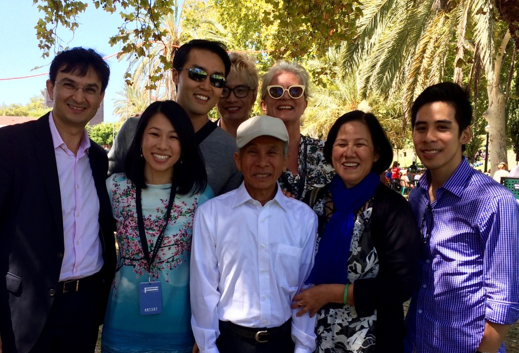 'By Boat, By Plane' – with Australian community leaders Dr Munjed Al Muderis and Ms Cat Thao Nguyen (with family) after a forum exploring refugee and immigration issues in contemporary Australia