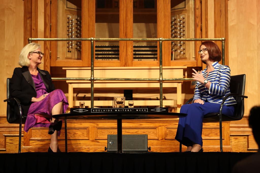Kapacity.org director Natasha Cica with former Australian Prime Minister Julia Gillard – photo credit Tony Lewis + Adelaide Writers Week