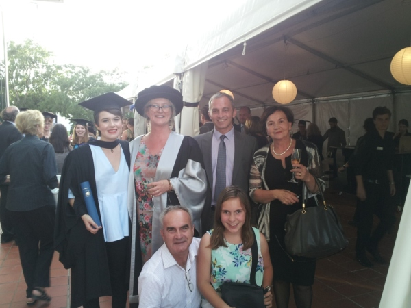 With the family of  ANU College of Law graduate Alisa Draskovic and Zoran Marinkovic of the Embassy of the Republic of Serbia