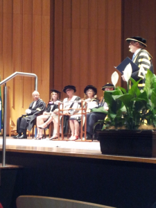 ANU Chancellor Gareth Evans addresses the ceremony