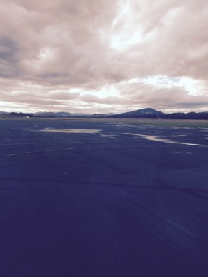 Point of departure – the tarmac at Hobart airport